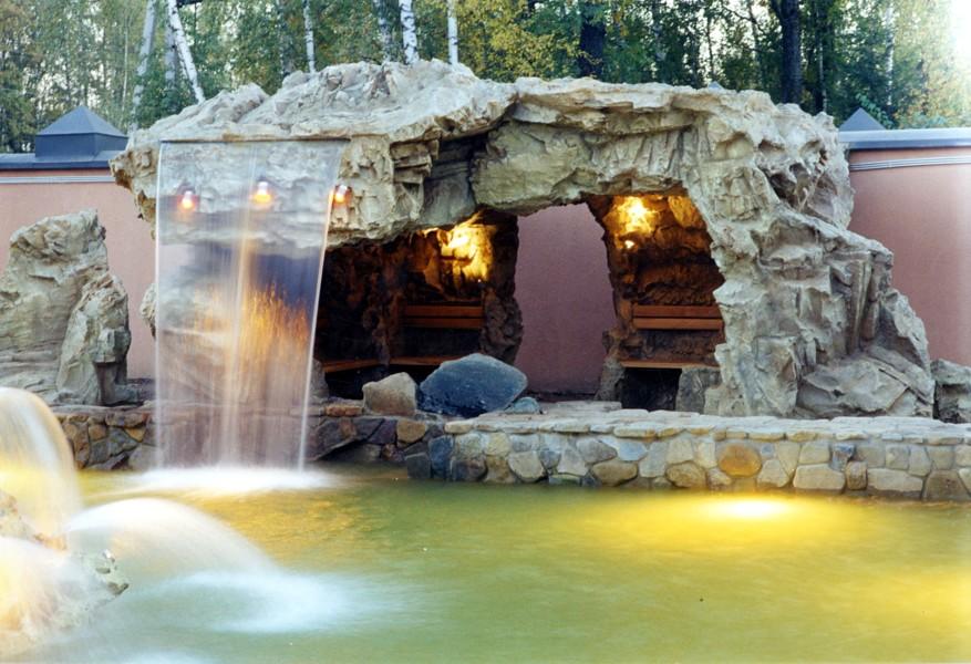 Водопад в бассейне своими руками